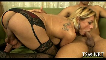 jaw-dropping tgirl gal in luxurious assfucking.