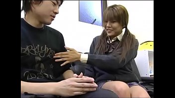 japanese depressed stepbro is encouraged by sister039_s hand job