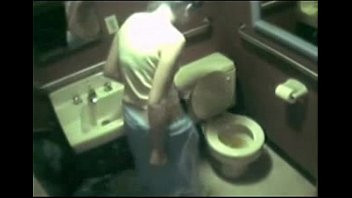 28653 hidden cam - caught boning in restroom.