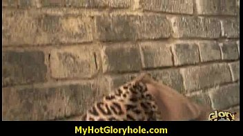 Gloryhole black babe honey sucks cock 17