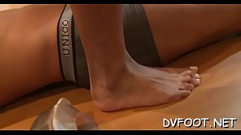 supah-naughty ultra-cutie penetrates gullet with foot and grinds.