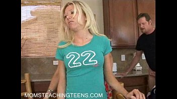Busty milf teaches a young teen how to love a thick cock