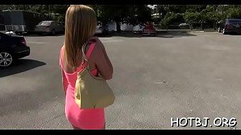 boy picks up lustful honey on the street.