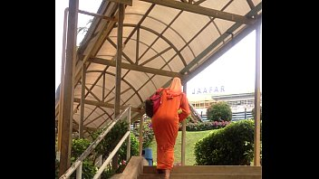 Malay lady'_s arse going up stairs 1/2