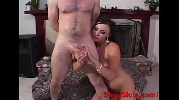 Dirty Talk Latino Milf Giving Lubed Handjob For Facial Reward