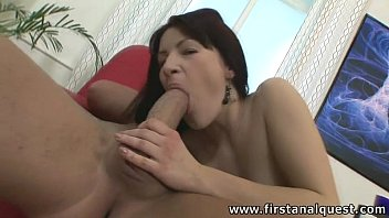 FirstAnalQuest.com - ANAL TOYING GIRL LOSES HER VIRGIN ASS TO A BIG COCK GUY