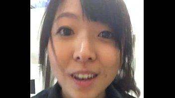japanese woman flashing at work