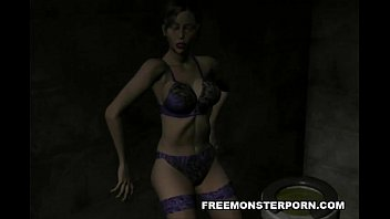 ample-chested 3 dimensional animation brown-haired honey flashing her.