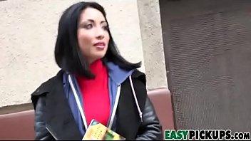 rina ellis - horny tourist deepthroats manmeat for money
