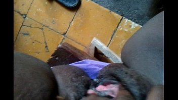 moist dark-hued honeypot getting finger