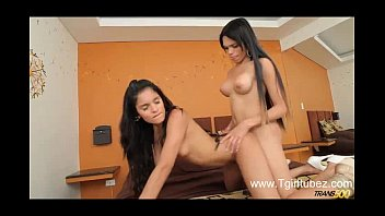 two youthful marvelous trannies blow and shag each.