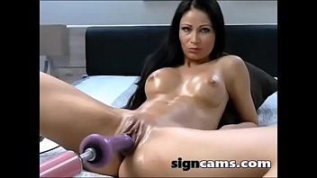 impressive dark-haired gets her labia porked.