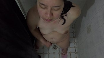 Asian MILF - Showering &amp_ Pussy Playing