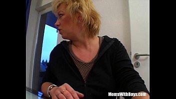Mature Blonde Sucking Her Guest'_s Hard Cock