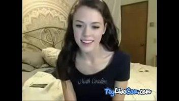 woman massaging herself on webcam demonstrate.