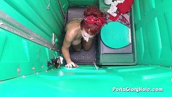 porta gloryhole mature sandy-haired gobbling jizz-pumps