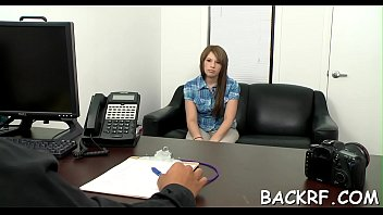 pliant gal humps with her naughty interviewer at.