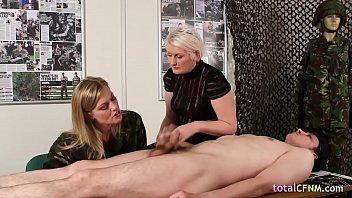 Close female naked man