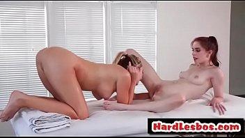 rubdown pussylicking lesbo masseuse - brett rossi and.