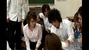 mischievous japanese schoolteacher gets porked and.