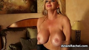 hefty-boobed blondie cougar rails a faux-cock