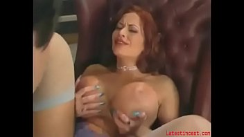 huge-hooter mother pleasing stepson in a.