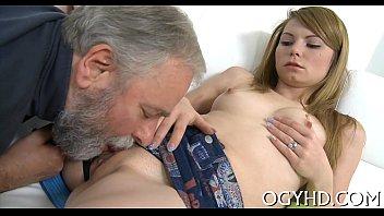 older guy tempts youthfull stunner