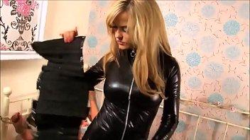 confine bondage leather catsuit and lezzie hook-up inbetween.