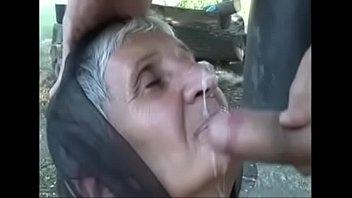 grandma facial cumshot