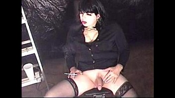 smoking she-creature t-doll michelle love pleasing herself smoking.