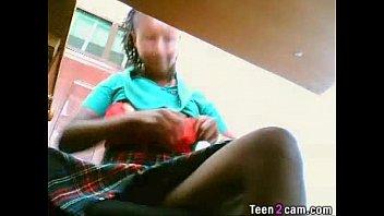 Busty rubs her big tits on webcam