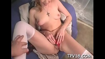 Teen babe getting obese long shlong in her luscious holes