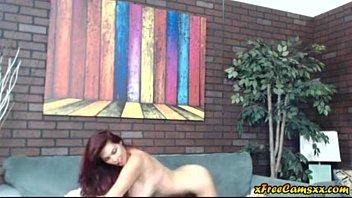 Sexy curvy big tit milf shos off her sexy body on webcam