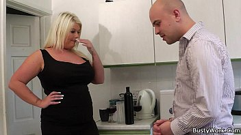 ash-blonde plumper gets gobbled and rear end-pounded by manager