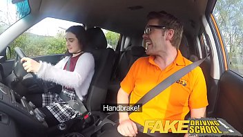 Fake Driving School Sexy horny new learner has a secret surprise