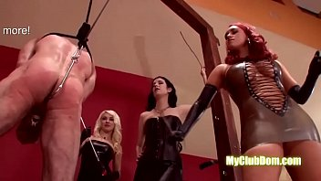 trio dominas and one defenseless marionette