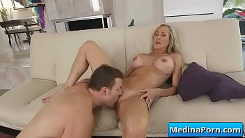 Busty mom sucking and fucking big cock 11