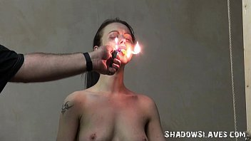 Cruel burning and electro bdsm of tortured slaveslut in extreme dungeon bondage
