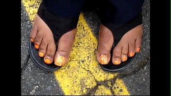 christina bradford orange toes