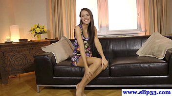 czech casting beauty inhaling and poking point of glance