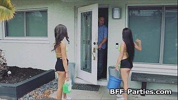 boob teenager carwash threeway rip up