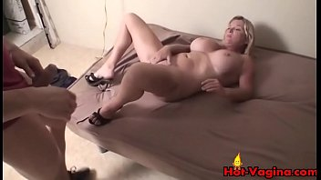 Big Tits Blonde Gets A Facial POV