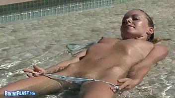 lena nicole having joy in pool