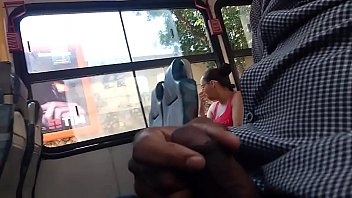 brazilian draining off on the bus to unsuspicious woman