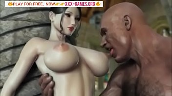 BIG TITS KOREAN GIRL WITH BIG BLACK COCK IN BEST 3D PORN GAME!