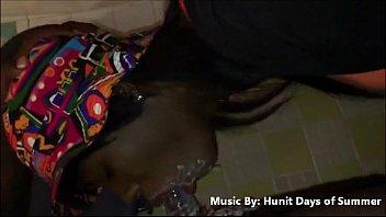 ebony slut vomits inhaling my manstick amp_ likes it