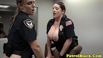 dark-hued thug weenie raided by mean nymph dom cops