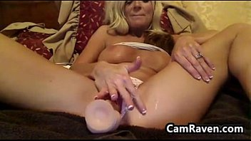 magnificent and grubby silver-blonde mommy