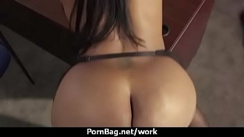 Big breasted babe pussy stuffed in office 8
