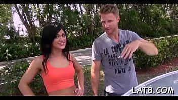 gorgeous couples explosive workout